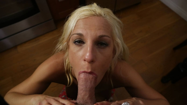 Sucking cock like a real Porn Mom would