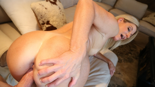 Horny stepmom being fucked from behind
